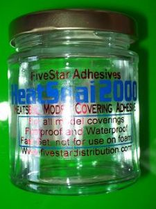 HeatSeal 2000 Heat activated solvent based adhesive for iron model covering film tex mylar film glue